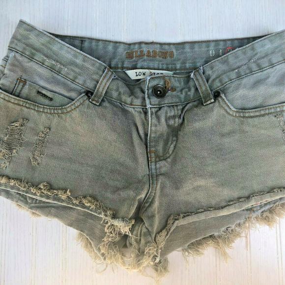 Billabong Pants - Billabong Low Rise Distressed Cutoff Shorts